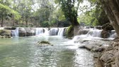Deep forest Waterfall(Jed Sao Noi waterfall), Saraburi, Thailand 影像素材