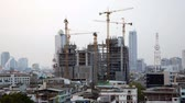 Time lapse of Building Under Construction in Bangkok, Thailand 影像素材