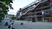 Paris France  May 14 2015: People visit Centre of Georges Pompidou on May 14 2015 in Paris France. The Centre of Georges Pompidou is one of the most famous museums of the modern art in the world. 影像素材