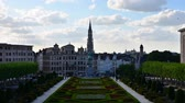 Mont des Arts Mount of the arts gardens in Brussels, Time Lapse Video 影像素材