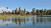 Angkor Wat with reflection in water, Siem Reap, Cambodia, Time-lapse Video