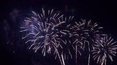 empolgante : Beautiful abstract colourful Fireworks explode display on sky at night a symbol of celebration in New years anniversary for background