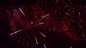 estouro : Beautiful abstract colourful Fireworks explode display on sky at night a symbol of celebration in New years anniversary for background