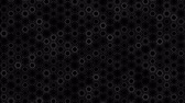 küme : Dark Black and White Circles pattern. Modern render smooth animation Abstract background with animation of wave mosaic of Circles. Technological, Technology background Stok Video