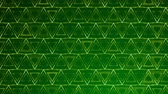 Dark Green Triangles pattern. Modern render smooth animation Abstract background with animation of wave mosaic of Triangles. Technological, Technology background