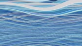 energy : Abstract horizontal curls waving in blue and white