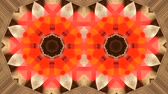 arabesco : Symmetrical Fractal Lights - Fractal geometry with throbbing lights red and orange and static background