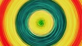 cinético : Rotating Concentric Circles Target  - Fractal texture target with concentric orbits rotating color