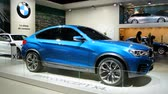 kompaktní : BMW X4 new compact crossover SUV on display at the 2014 Brussels motor show.