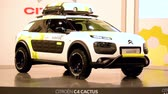 kompaktní : Citroën C4 Cactus Aventure concept car on display during the 2015 Brussels motor show.
