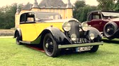 vintage : Bentley 3.5 L Parkward sports saloon 1934 vintage classic car on display during 2016 Classic Days at Dyck castle in Germany. Stock Footage