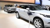 bruxelas : Range Rover Velar luxury Land Rover SUV car on display at the 2018 European Motor Show Brussels.