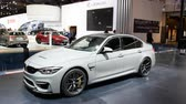 salon automobile : BMW Série 3 M3 Sedan lors du salon de l'automobile européen 2018 Bruxelles.