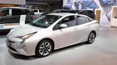 wtyczka : Toyota Prius Hybrid vehicle on display during the 2018 European Motor Show Brussels. Wideo
