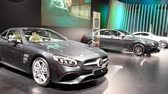 roadster : Mercedes-Benz SL, S Class and S-Class Coupe luxury exclusive cars on display during the 2018 European Motor Show Brussels.