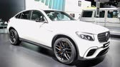 kupé : Mercedes-AMG GLC 63 S 4MATIC+ Coupé high performance luxury SUV off road car on display during the 2018 European Motor Show Brussels.