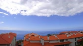 portugalia : Madeira balcony time lapse with an ocean view in Santa Cruz.
