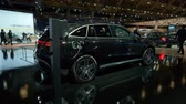 hybride : BRUSSELS, BELGIUM - JANUARY 9, 2020: Mercedes-Benz EQC (N293) full electric compact luxury SUV car on display at Brussels Expo
