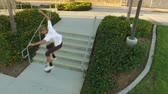 corajoso : Big Jump Over Stairs by Skateboarder