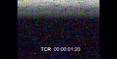pixellated : Ancient film cassette or analog TV. Screen error with time countdown timer. Video home system HD
