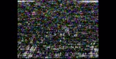 błąd : VHS Noise. Analog TV signal, retro video recording cassette, TV channels error. HD. White noise