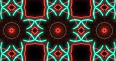 Abstract hypnotic kaleidoscope pattern seamless animation. Dynamic and multicolored loop motion background