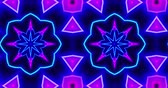 Kaleidoscope pattern seamless animation. Abstract hypnotic dynamic and multicolored loop motion background.