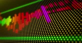 Dynamic sound spectrum lines on LED display. Loopable and seamless abstract background. Wideo