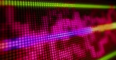 Dynamic, loopable and seamless abstract background. Sound waves on LED display 3D view. Wideo