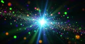 Colorful galaxy abstract background. Cosmos exploration concept seamless animation. Stock Footage