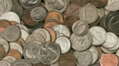 dimes : American Coins rotation Stock Footage