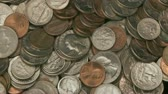 währung : American Coins Rotation Stock Footage