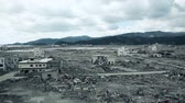 Fukushima Japan, city destroyed by tsunami Stock Footage