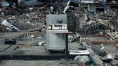 Fukushima Japan,house in the city destroyed by tsunami