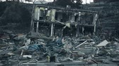 deprem : Tsunami 2011, Fukushima Japan, city destroyed by tsunami