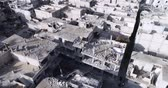 yıkmak : Damascus suburbs destroyed in aerial view, Syria