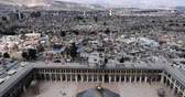 молитва : Damascus Mosque with aerial view, Syria