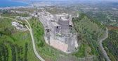 coastal road : Baniyas castle in aerial view, Syria