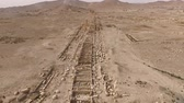 anfiteatro : aerial view of the archeological site of palmyra in syria (very rare)
