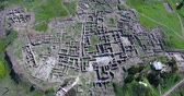 kazılmış : aerial view of Ugarit archaeological site in syria