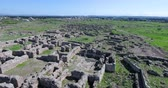 mezza eta : aerial view of Ugarit archaeological site in syria