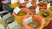 куркума : Spices and herbs spice at market. Different kind of papper.
