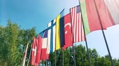 desenvolver : Colorful flags from different countries Vídeos