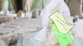 interior : gift for wedding guest wedding table close up