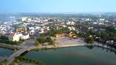tremendous : tremendous boundless panorama ancient city Hoi An Stock Footage