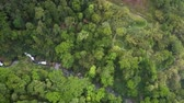 вьетнамский : high aerial view highland with gorge in jungle