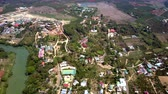 vietnamita : aerial Vietnamese towns villages and fields in countryside