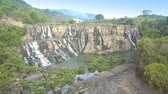 погоня : camera turns around Pongour waterfall among central highland