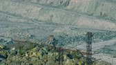 tremendous : aerial panorama asbestos open cast mining quarry Stock Footage