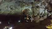 véd : fantastic inner aerial view famous deep ancient cave protected by government in Asian national park